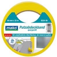 Скотч MAKO для штукатурных работ 38ммх33м (до 70°С) желтый 832437