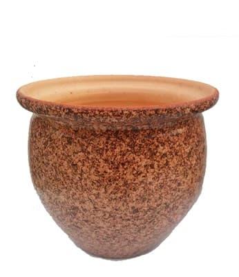 Горшок керамический 2л мрамор глазуров. 3066 - фото 11002