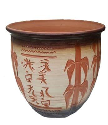 Горшок керамический 20л ангоб, бамбук 8021 - фото 11006