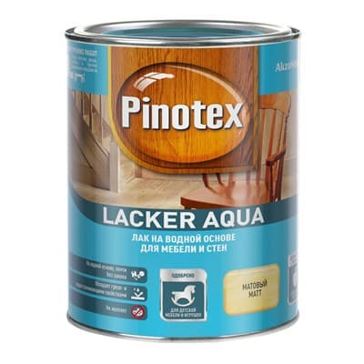 Лак PINOTEX Lacker Aqua 10 (матовый) 2,7л 5254106 - фото 17613