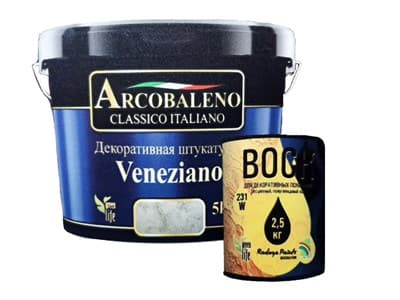 Штукатурка декоративная Arcobaleno Veneziano 5кг - фото 25620