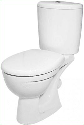 Унитаз-компакт Лидер МС Дуал белый 1с - фото 26042