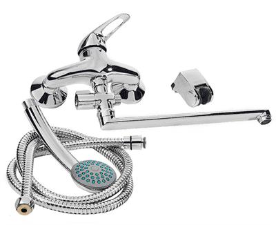 Смеситель RUBINETA P-12/C Star для ванны с длинным изливом P2CK01 - фото 36272