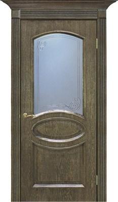 Полотно ОМИС дверное Лаура КР 700*2000*40 шервуд - фото 43029