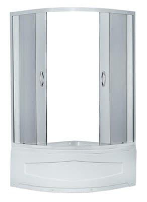 Душевая кабина ER0509T-C4 900*900*1950 высокий поддон (белый) тонированное стекло - фото 4759