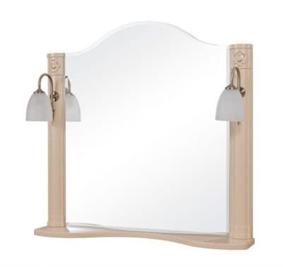 Зеркало для ванной комнаты АРТ ДЕКО 80 айвори - фото 5097