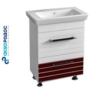 Тумба для ванной комнаты ИМПЕРИАЛ 85 с умывальником венге PORTO D lavabo - фото 5111