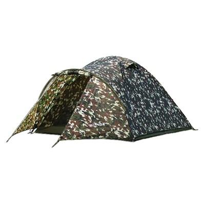 Палатка 3 мест. Комбат( 350*210*135см) мат190Т,PU3000мм вс циф.камуф (6) 102042Т - фото 51430