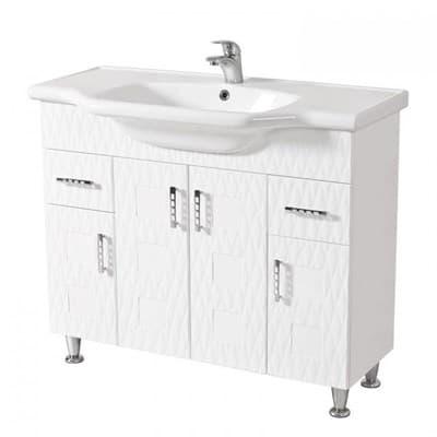 Тумба для ванной комнаты АССОЛЬ 100 с умывальником - фото 5144