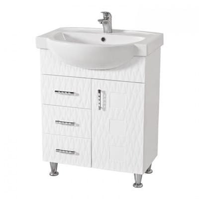 Тумба для ванной комнаты АССОЛЬ 65 3D№6 с умывальником - фото 5145