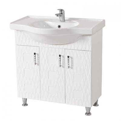 Тумба для ванной комнаты АССОЛЬ (3D№6) 80 с умывальником - фото 5146