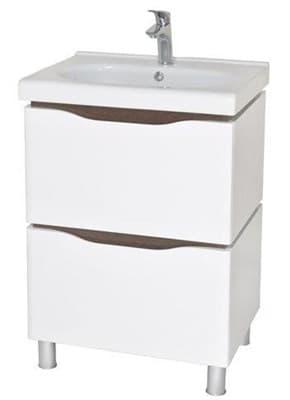 Тумба для ванной комнаты ВЕНЕЦИЯ 60 с умывальником венге - фото 5148