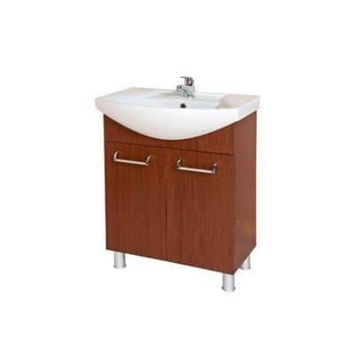 Тумба для ванной комнаты ИДЕАЛ ПЛЮС 65 с умывальником венге - фото 5150