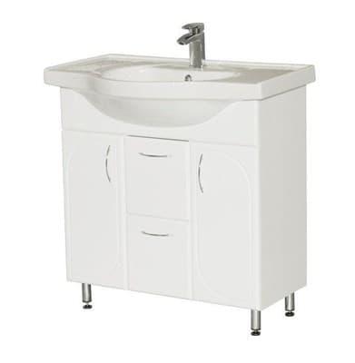 Тумба для ванной комнаты ОПТИМА 80 с умывальником белый - фото 5155