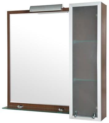 Зеркало для ванной комнаты ИДЕАЛ ПЛЮС 85 (R) венге - фото 5187