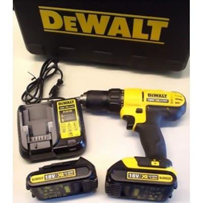 Дрель-шуруповерт DeWALT  DCD771S2-PFRU, 18 В емкость аккум.1.3 А⋅ч - фото 5326