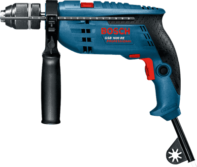 Дрель ударная BOSCH GSB 1600 RE Professional 710Вт 0601218121 - фото 5373