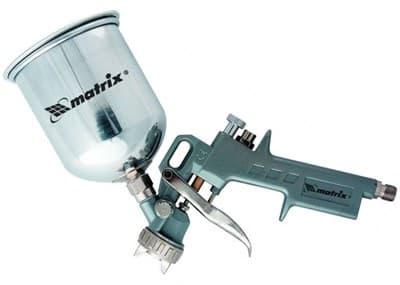 Краскораспылитель MATRIX пневмат.с верхним бачком V= 0,6 л + сопла диаметром 1.2, 1.5 и 1.8 мм 57314 - фото 5496