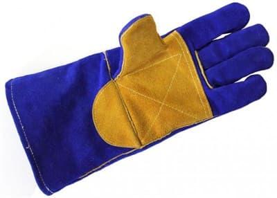 Перчатки Gis краги сварочные спилк., синий манжет, без подкл Welder - фото 5584