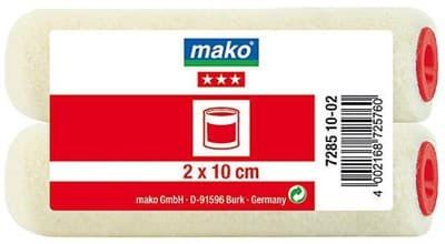 Валик MAKO сменный велюр (для рукоятки 6мм) 10см 2 шт. в пакете 728510-02/728511-02 - фото 6058
