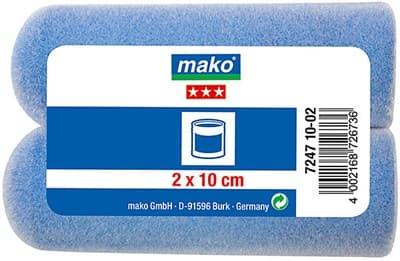 Валик MAKO сменный пена-полиэстер флокированный 10см для рукоятки 6мм, 2 шт в пакете 724710-02 - фото 6068