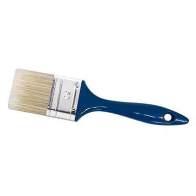 Кисть MAKO плоская 30мм (светлая смесь щитины) 60% пласт.ручка оправа из белай жести 352430 - фото 6160