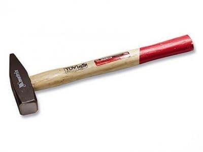 Молоток MATRIX слесарный 1000гр, квадратный боек, деревянная ручка 10236 - фото 6293