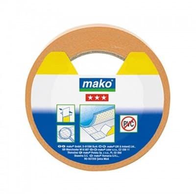 Скотч MAKO для напольных покрытий, полипропилен 25мх50мм 831725 - фото 6440