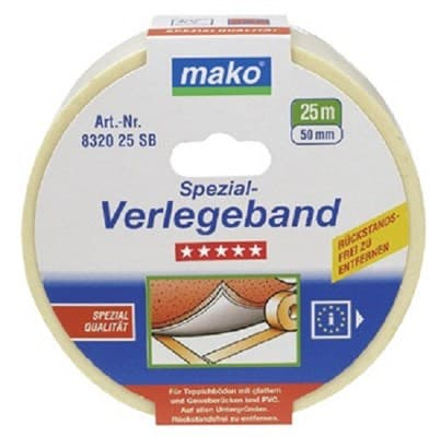 Скотч MAKO для напольных покрытий, ткань 25мх50мм 831825 - фото 6445