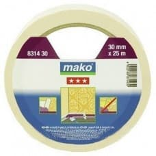 Скотч MAKO обойный 30ммх25м белый 831430SB - фото 6462