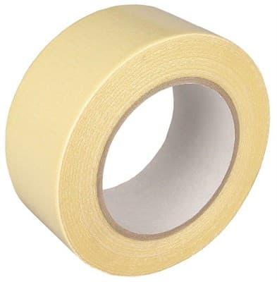 Скотч тканевый 48мм*13,5м (желтый) - фото 6480