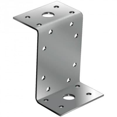 Уголок крепежный оцинкованный Z-образный усиленный 105*55*90*2,0мм KUZ (US)-105 (упак 50шт) - фото 6688