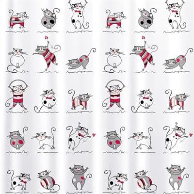 Штора для ванной TATKRAFT Funny Cats Textile (ткан.) 180*180см 14664 - фото 6768