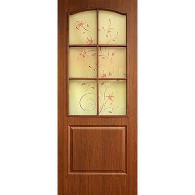 Полотно ОМИС дверное Классика фотопечать (пленка ПВХ) 600*2000*34 орех - фото 8620