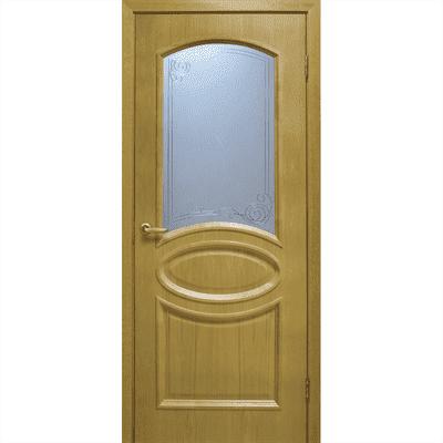 Полотно ОМИС дверное Лаура КР 600*2000*40 дуб натуральный тонированный - фото 8628