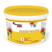 Краска KAIZER водоэмульсионная Malerweiss внутренняя моющаяся MG 7,5кг