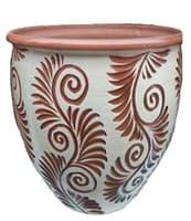 Горшок керамический 20л Кружева 8062