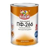 Эмаль OLECOLOR ПФ-266 для пола красно-коричневая 0,9кг