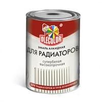Эмаль OLECOLOR алкидная для радиаторов белая 0,9кг