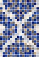 Плитка КЕРАМИН облицовочная Гламур 400*275 2С микс синий ТИП 1 (1,65) КТ-00001353