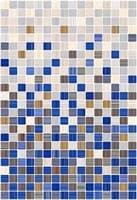Плитка КЕРАМИН облицовочная Гламур 400*275 2С микс синий (1,65) КТ-00001082
