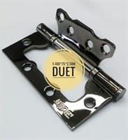 Бренд:DUET Страна-производитель:Китай Цвет:черный никель Размер:100х75х2,5 мм Тип:петля универсальная Покрытие:гальваника Тип установки:накладной