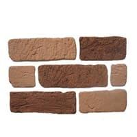 Камень декоративный Кирпич Старый Оранжевый DeKam 1027092