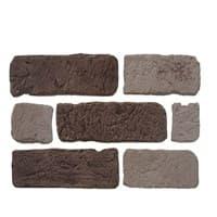 Камень декоративный Кирпич Старый Шоколад DeKam 1027001