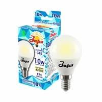 Лампа светодиодная ЗАРЯ G45 10W E14 4200K эконом