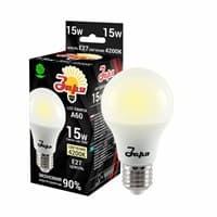Лампа светодиодная ЗАРЯ А60 А3 15W E27 4000/4500K(станд)