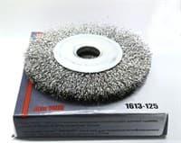 Щетка ЭКСПЕРТ дисковая для точильно-шлифовального станка диаметр 125мм 1613-125