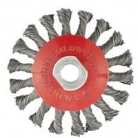Щетка MATRIX для УШМ,125 мм, М14,  тарелка , крученая проволока  0,5 мм 74611