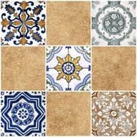 Плитка UNITILE мозаика Тенерифе коричневый верх 03 300*300 (98*98) (1-й сорт)