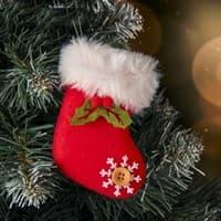 Подвеска мягкая Рождественский носок 6,5*10см 3544155